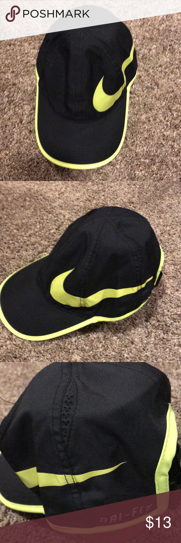 Nike Featherlight Dri Fit Hat Fitted Hats Nike Nike Accessories