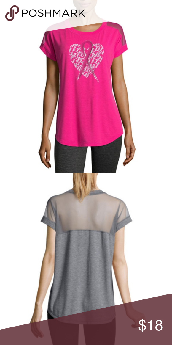 699ef57b Xersion Breast Cancer Awareness Dolman T-Shirt Pink Color Sleeve Length:  Short Sleeve Fabric Description: Knit Fabric Content: 76% Polyester, 19%  Lyocell, ...