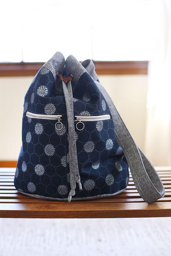 fe45faa495a3 Bucket Bag + Zip Top Tote    Handmade Style (Noodlehead)