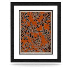 "Vikki Salmela ""Blossom"" Orange Black KESS Naturals Canvas (Frame not Included) #new #burnt #orange #contemporary #floral #botanical #art for the #wall #decor for #office #home #gift #apartment #bedroom #beautiful from #KessInHouse by #vikkisalmela"