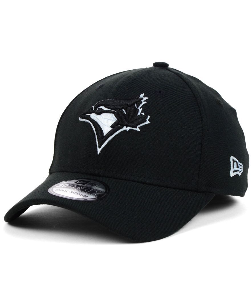 74bef7c7c7ee3 New Era Toronto Blue Jays Black and White Classic 39THIRTY Cap ...