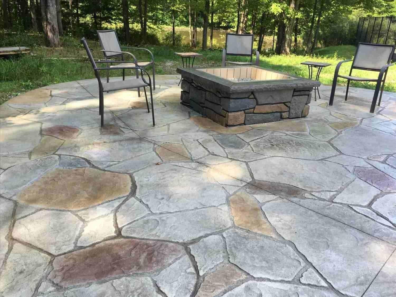 Simple Backyard Stamped Concrete Patio Ideas | Concrete ... on Simple Concrete Patio Designs id=28527