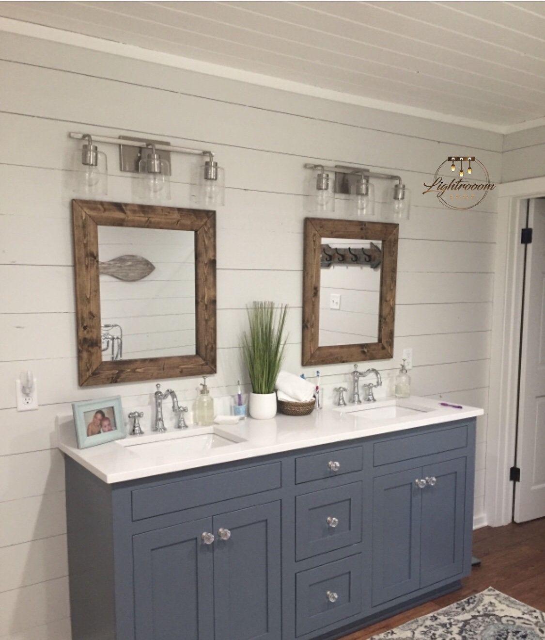 Whitewash Mirror Wood Framed Mirror Rustic Wood Mirror Bathroom Mirror Wall Mirror Vanity Mirror Small Mirror Large Mirror Gift Wood Framed Mirror Small Bathroom Mirrors Wood Mirror