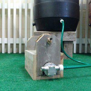 Upcycle Rain Barrel Pressure Pump Rain Barrel Pressure Pump Water Barrel