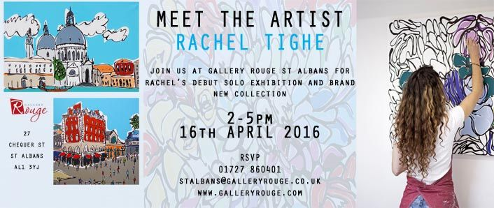 Next Exhibition at Gallery Rouge St Albans - April 16th with Rachel Tighe