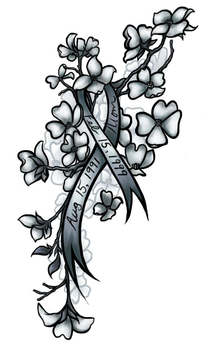 34af3904e0b42 green ribbon for liver with cherry blossoms. green ribbon for liver with  cherry blossoms Brain Cancer Tattoos ...