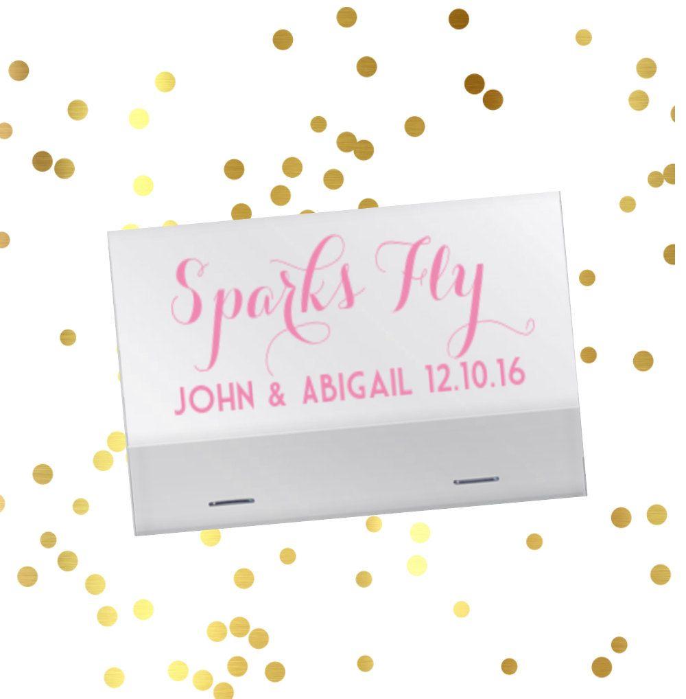 Wedding reception matches, sparkler sendoff matches, Sparks Fly ...