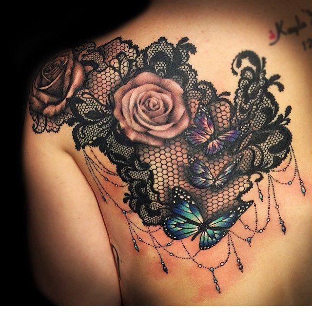 Más de 95 diseños de tatuajes de encaje de lujo: nunca has sido tan bonita – ideas de tatuajes