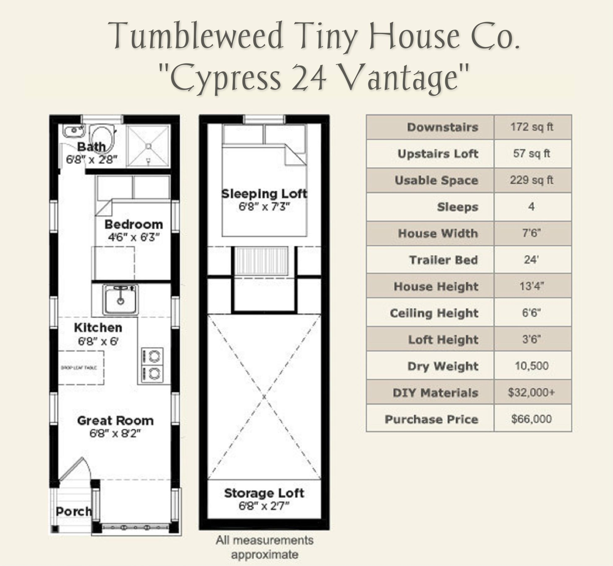 cypress 24 vantage by tumbleweed tiny house