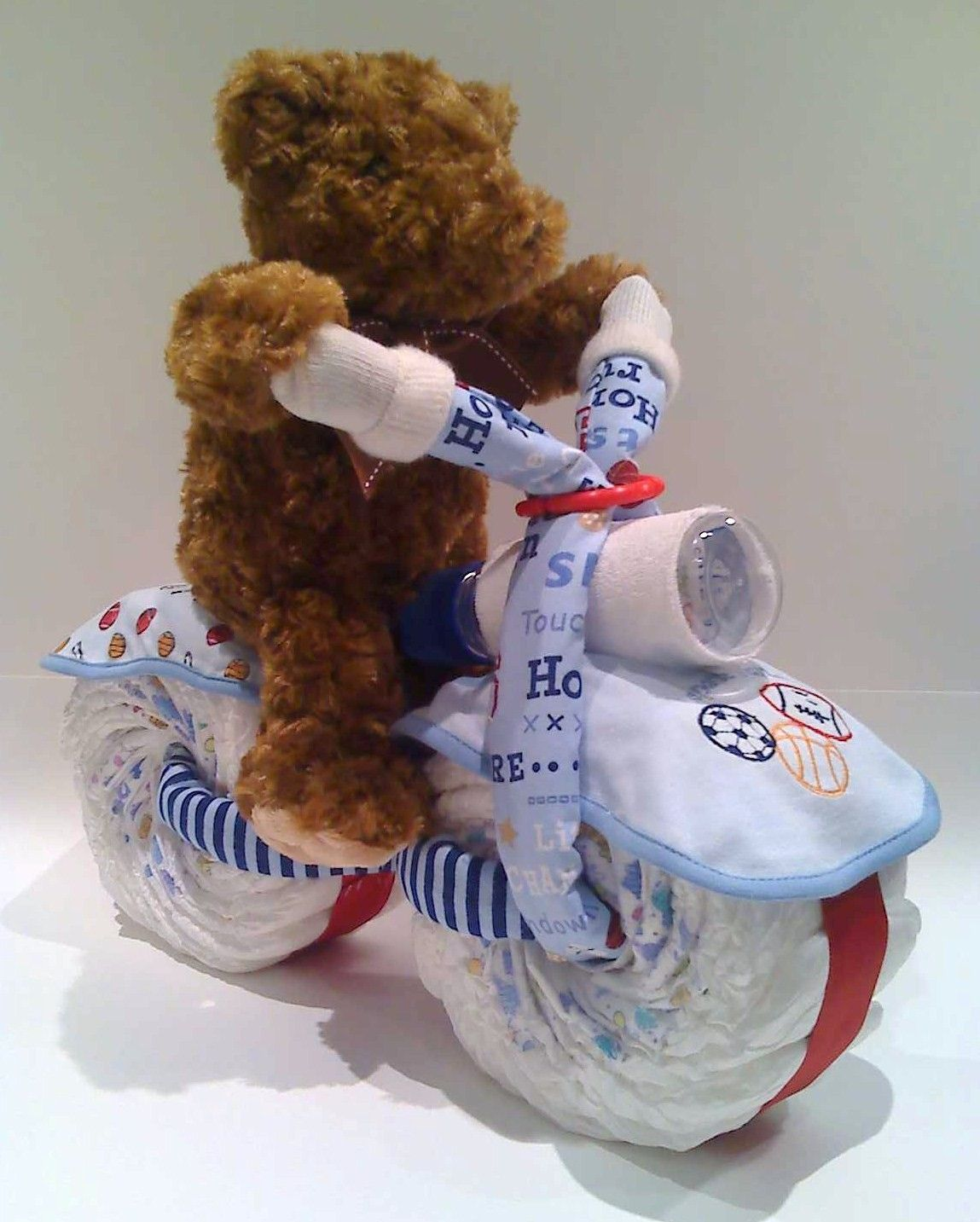 Adorable Bike Diaper Cake Gift Or A Centerpiece For Baby Shower