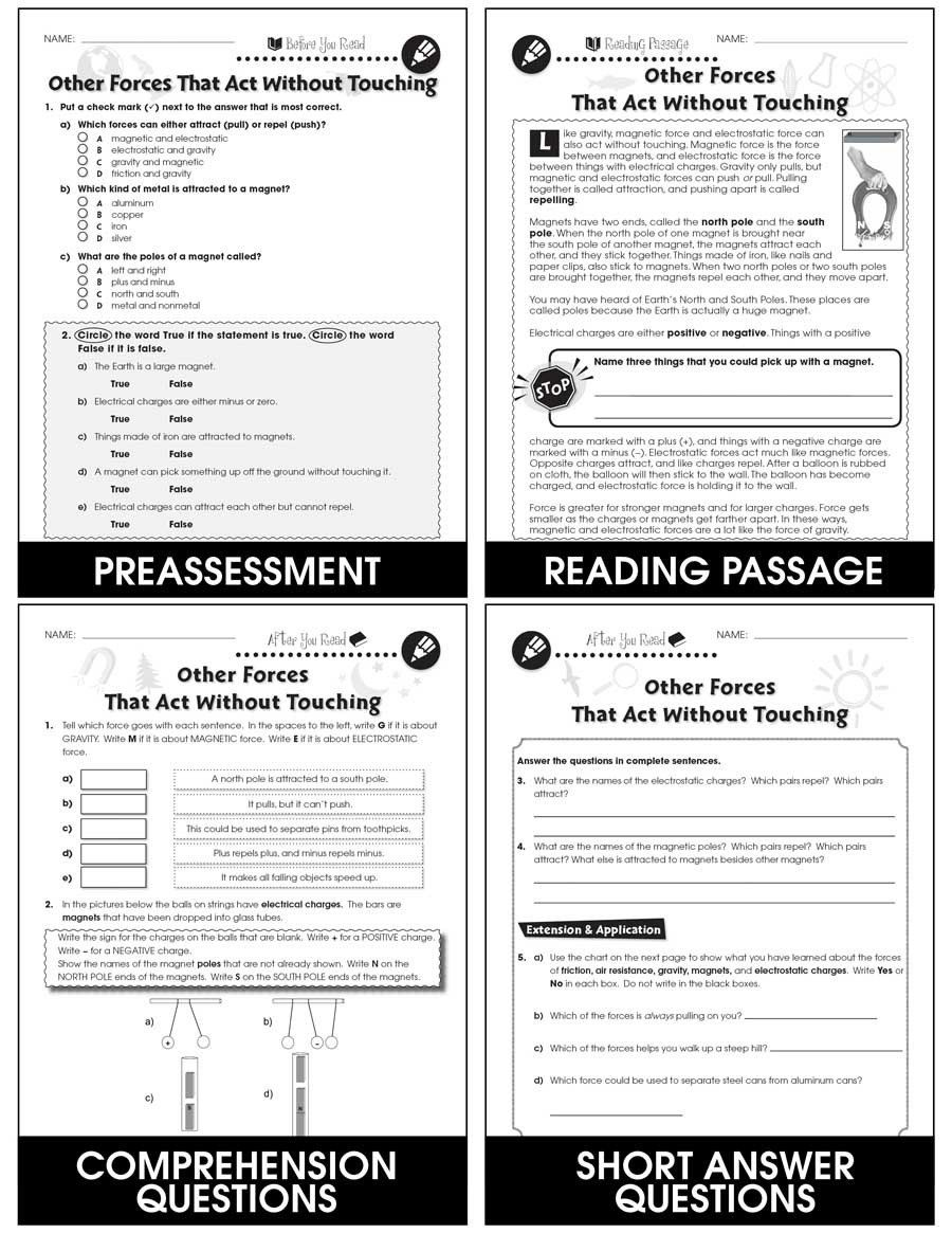 Force And Motion Worksheet Answers Force Grades 5 To 8 Print Book Lesson Plan Classroom 2020