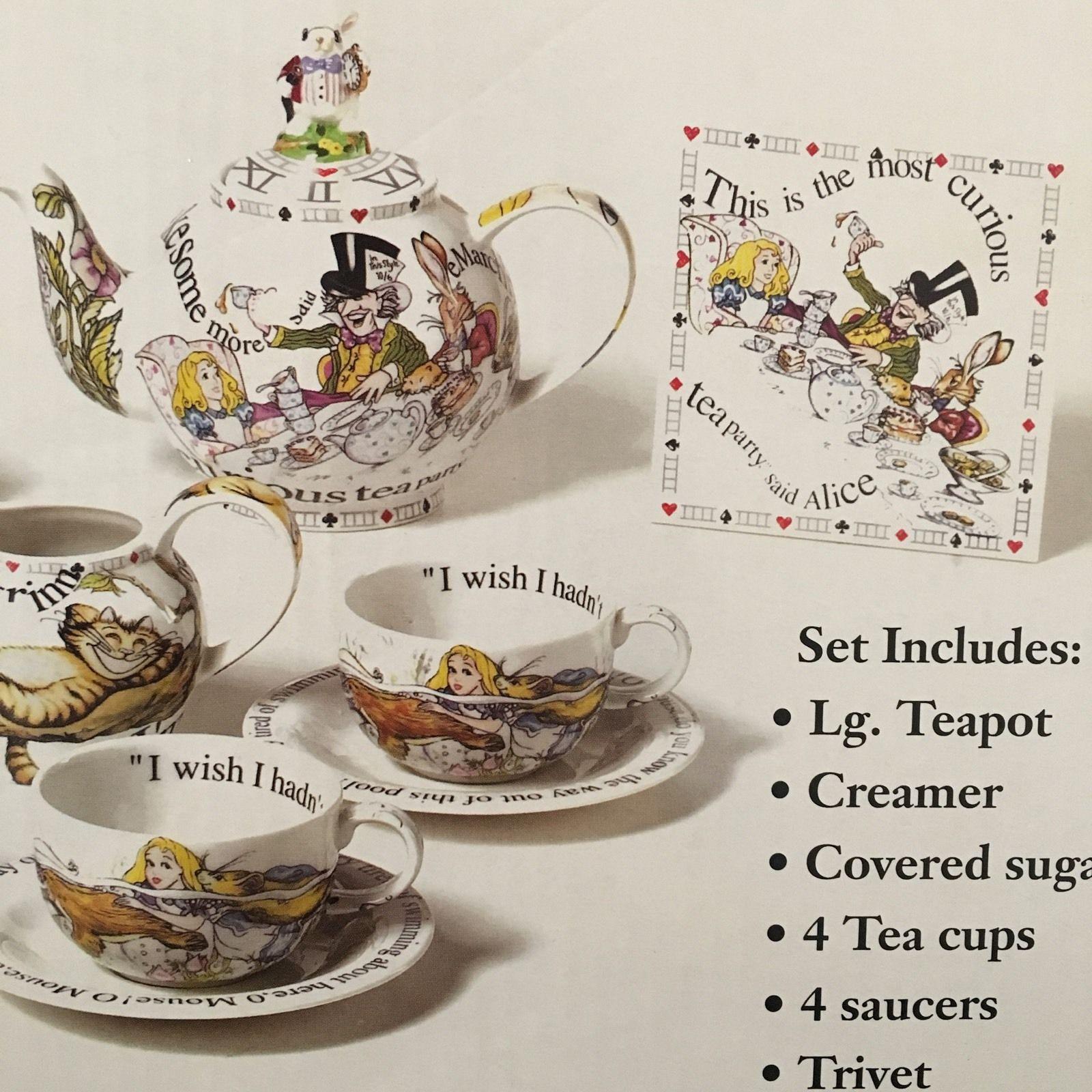 Nib Alice In Wonderland Madhatters Teaparty Teaset Paul Cardew