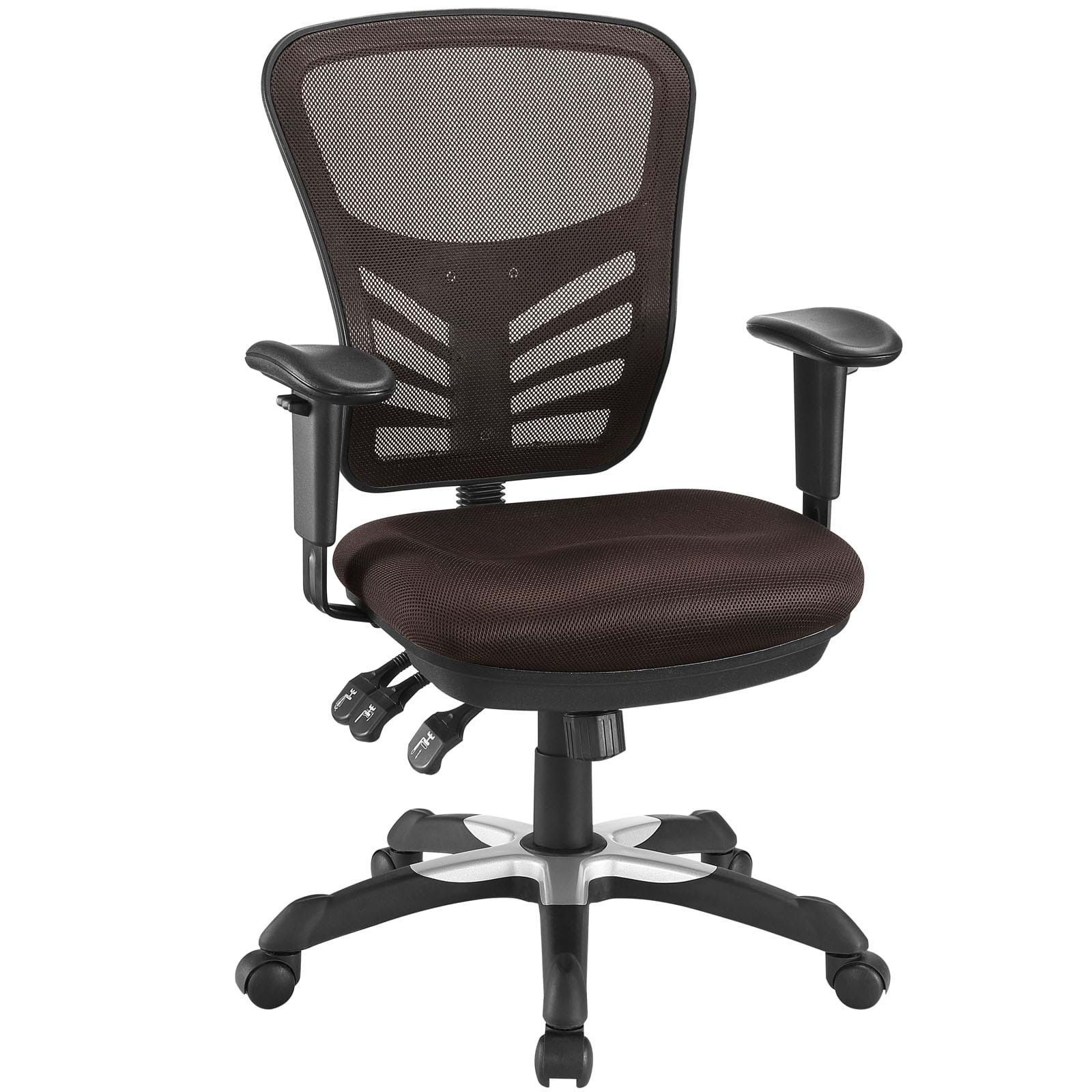 Articulate Mesh Office Chair In Brown