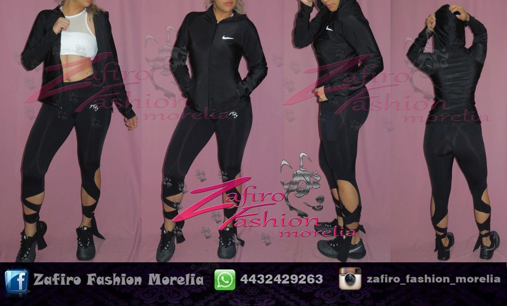 Conjunto Deportivo Nike Fashion. Negro y Blanco