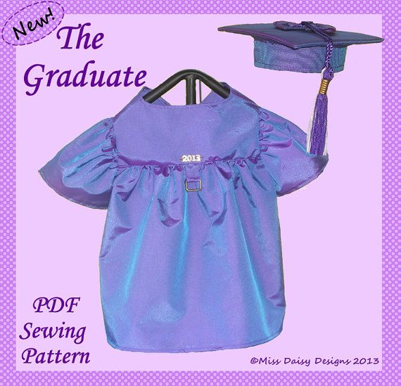 Dog Clothes Pattern To Sew Graduation Gown & Cap PDF Size Medium ...