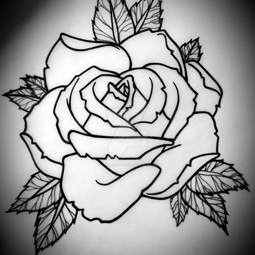 Horizontal Rose Tattoo Design by Ladyknight17 Tatuajes