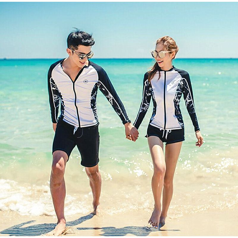 bffce62b1 Rash Guard Women Rashguard Swimming Suit For Swimsuit Woman Wind Surf  Bikini Top Korean Couple Long Sleeve Outdoor Yoga Maillot