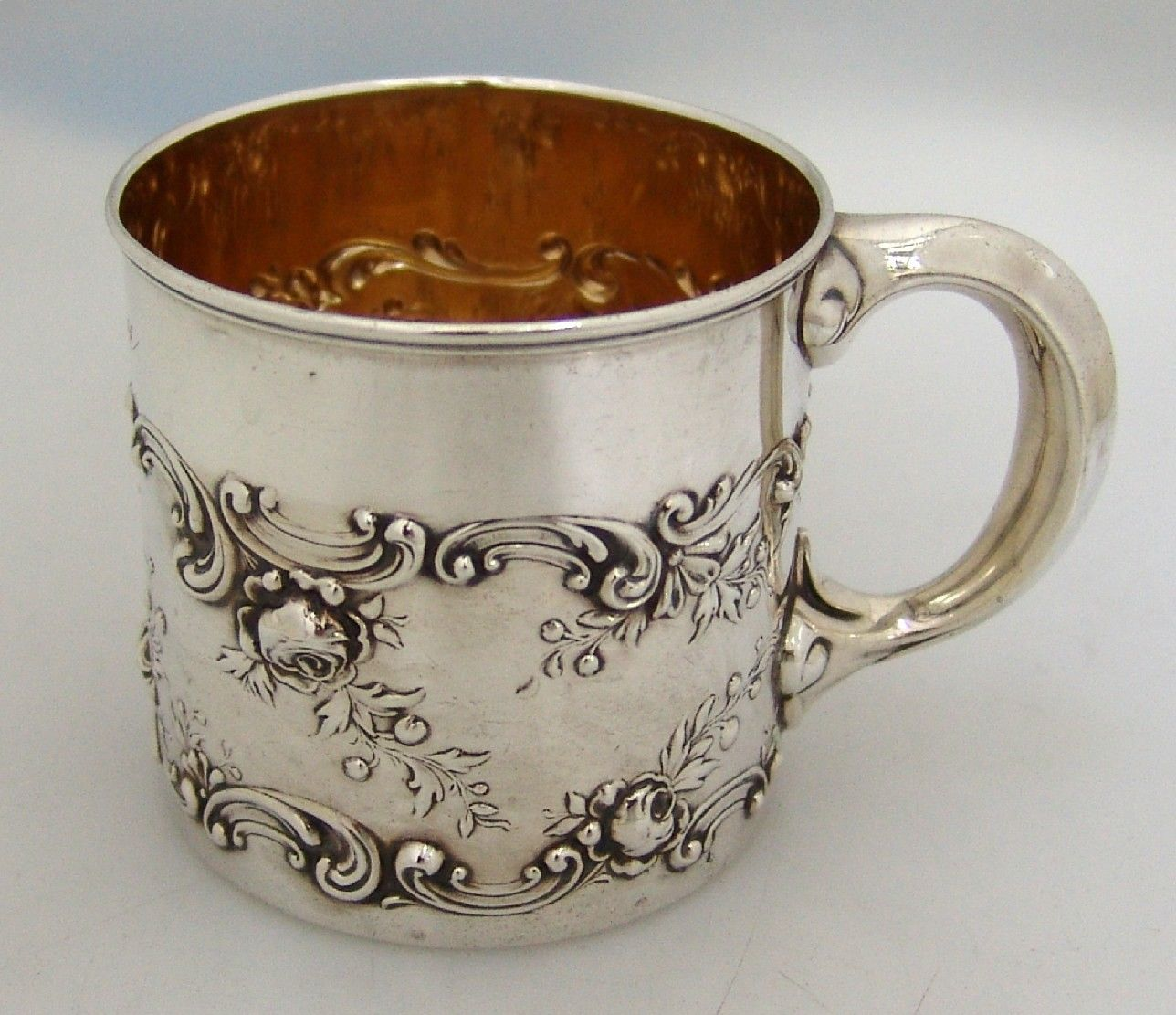 Gorham Sterling Silver Baby Cup 1897                              …
