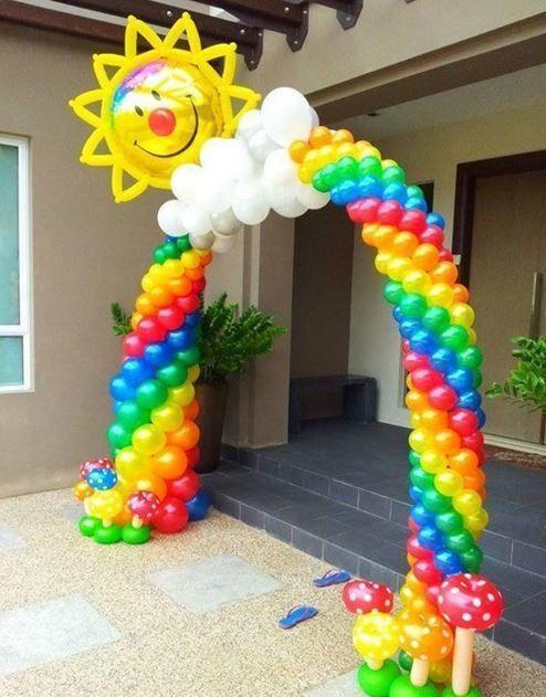 Crea tu propio arco de globos para sorprender a tus - Globos para fiestas ...