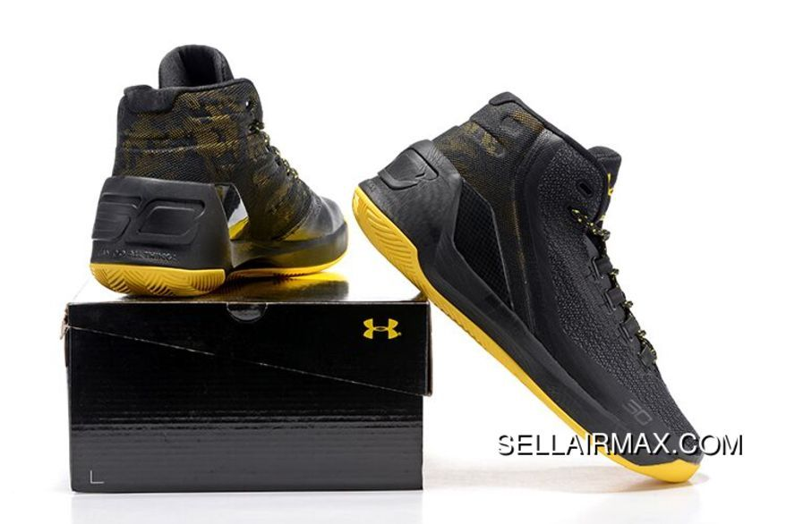 Under Armour Curry 3 Black/Yellow New