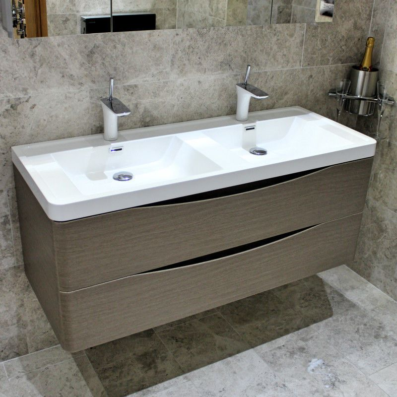 Details About Palermo Bagno Joy 1200 Double Basin Wall Mounted