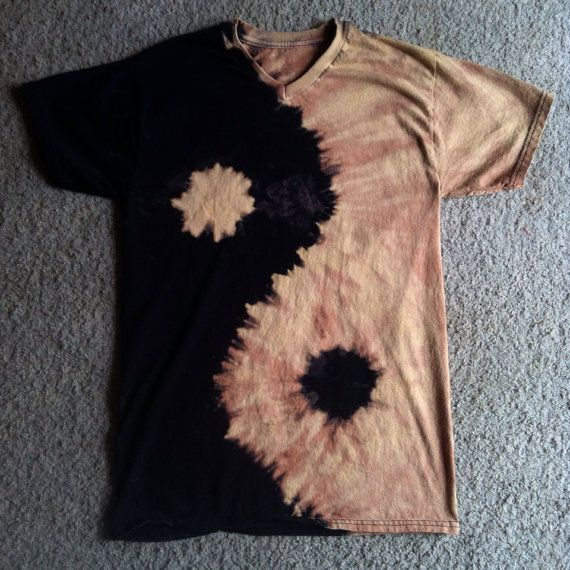 Yin Yang Reverse Tie Dye Shirt MADE TO ORDER by jnmTHREADS
