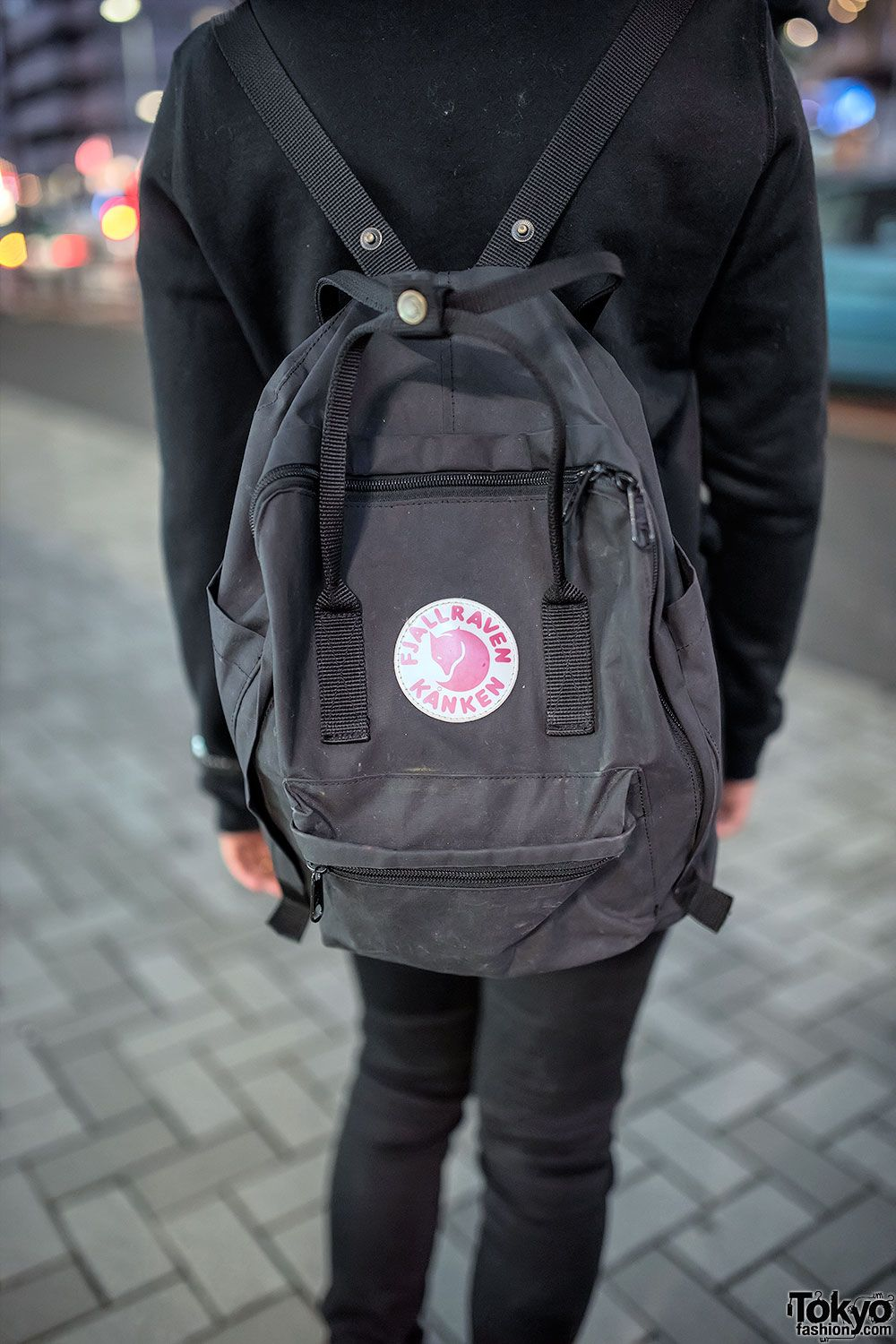 fjallraven kanken black backpack