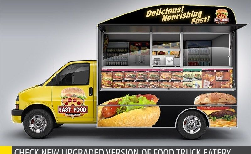 Food Truck Mock Up Unique 3d Model Mockup By Bennet1890 Graphicriver In Mini Food Car Best Food Trucks Food Truck Food Truck Festival