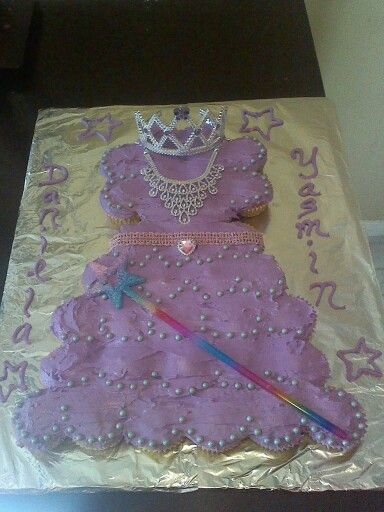 Cupcake dress cake....