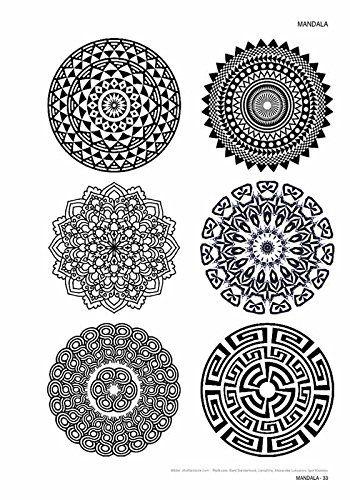 Mandala - Volume 1 Tattoo Vorlagen Buch: Amazon.de: Kruhm Verlag ...