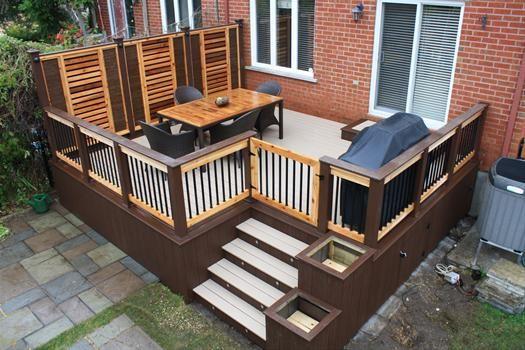 patio en bois - Google Search chervue exterior colors Pinterest - toiture terrasse bois accessible