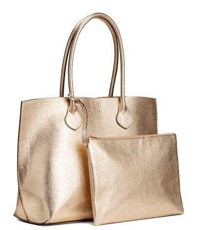 e1e09b06e Bolso shopper con cartera | Dorado | Mujer | H&M MX | Accesorios en ...