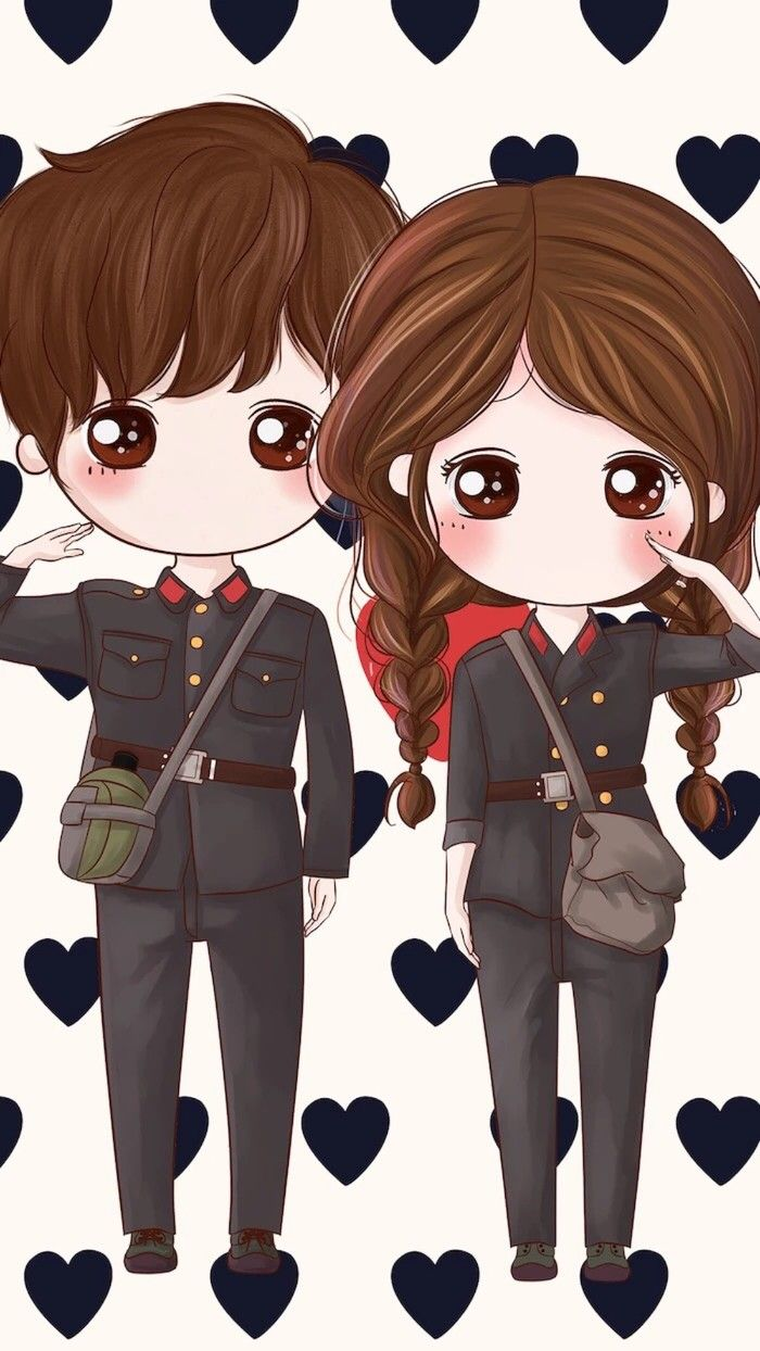 小薇的世界光 插画 壁纸 | chibi couple | pinterest | chibi, kawaii