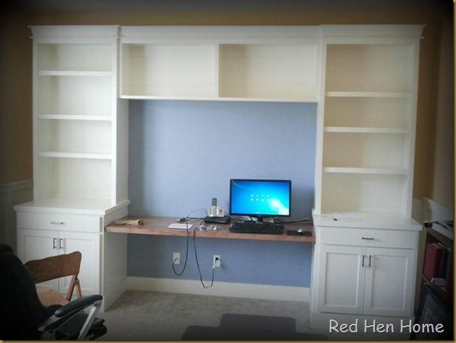 Red Hen Home Office Progress The Desk Built In Desk Buy Office Furniture Stock Cabinets