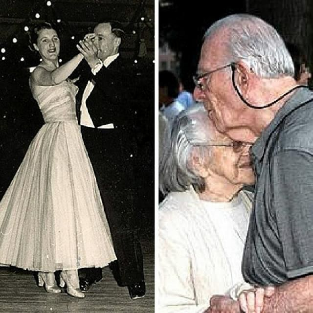 We love this before & after of #LivingLegends Loretta and James! To nominate your own Living Legend, visit www.HonorYourLivingLegend.com! #grandparents #family #love #dancing #dance #seniors #inspirational