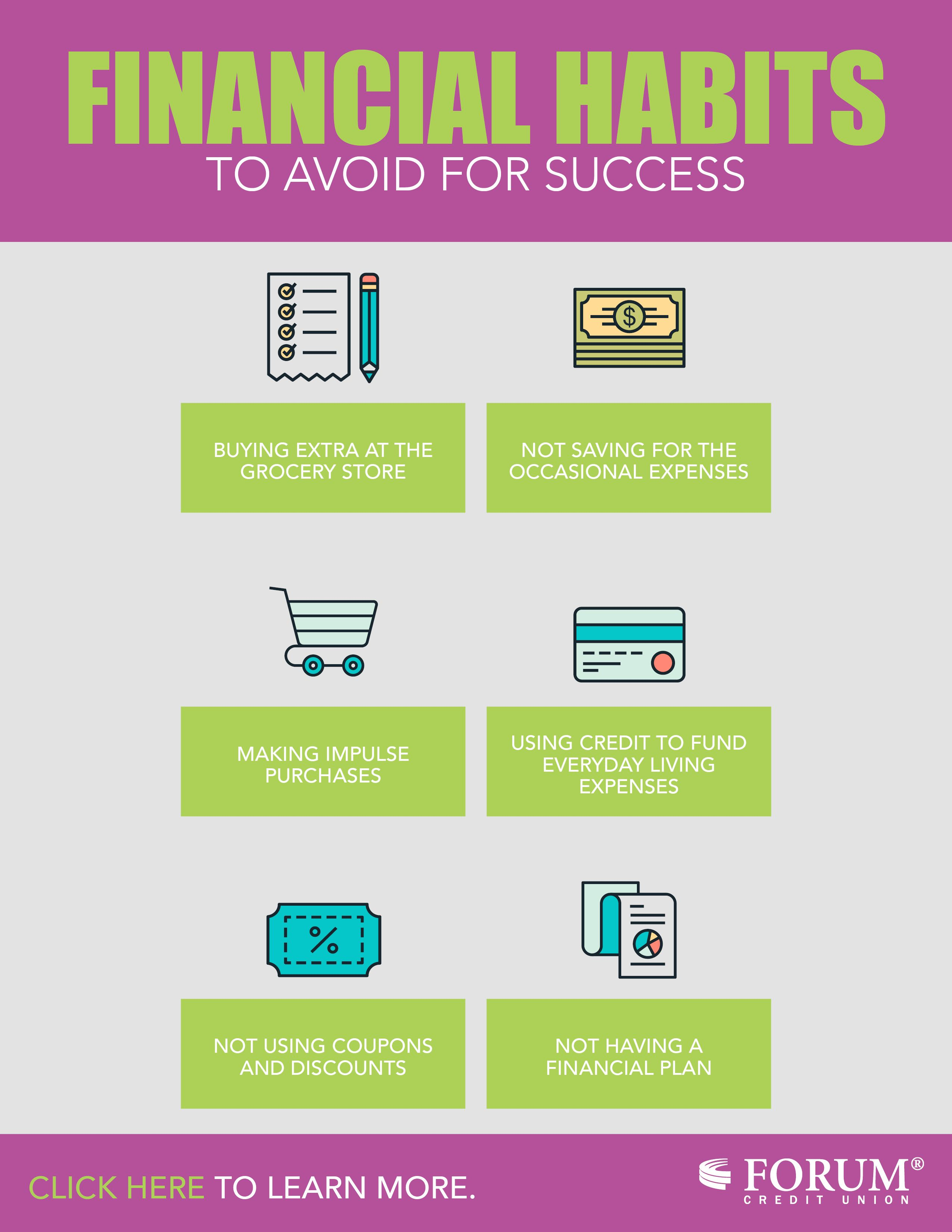 Financial habits to avoid for success forum credit union
