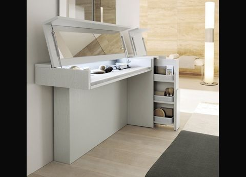 Clever Hideaway Makeup Table Storage Close The Lidhide