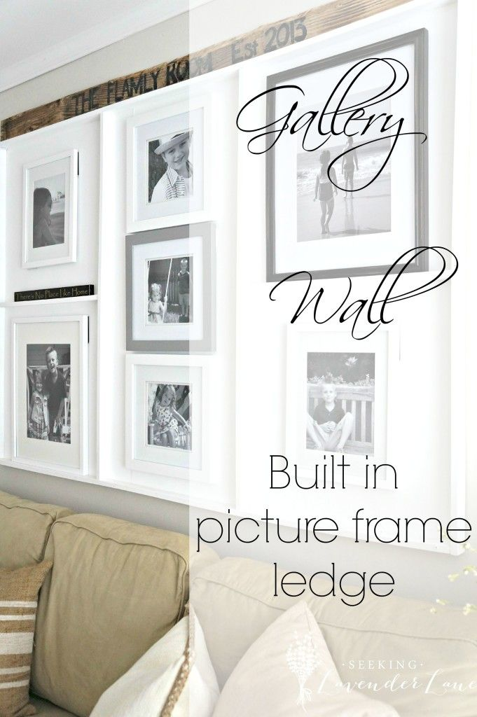 Oops...I made a Built in Picture Frame Ledge | Funky junk, House ...