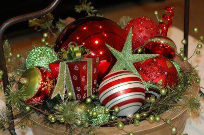 Side Table Decor Christmas Greenery Christmas Sides Christmas Bulbs