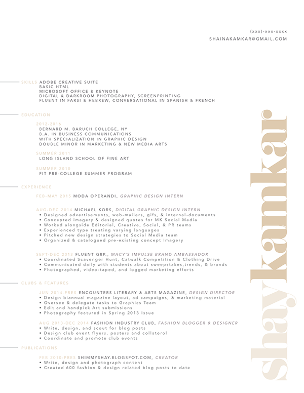 Resume Font Name - Resume Examples | Resume Template
