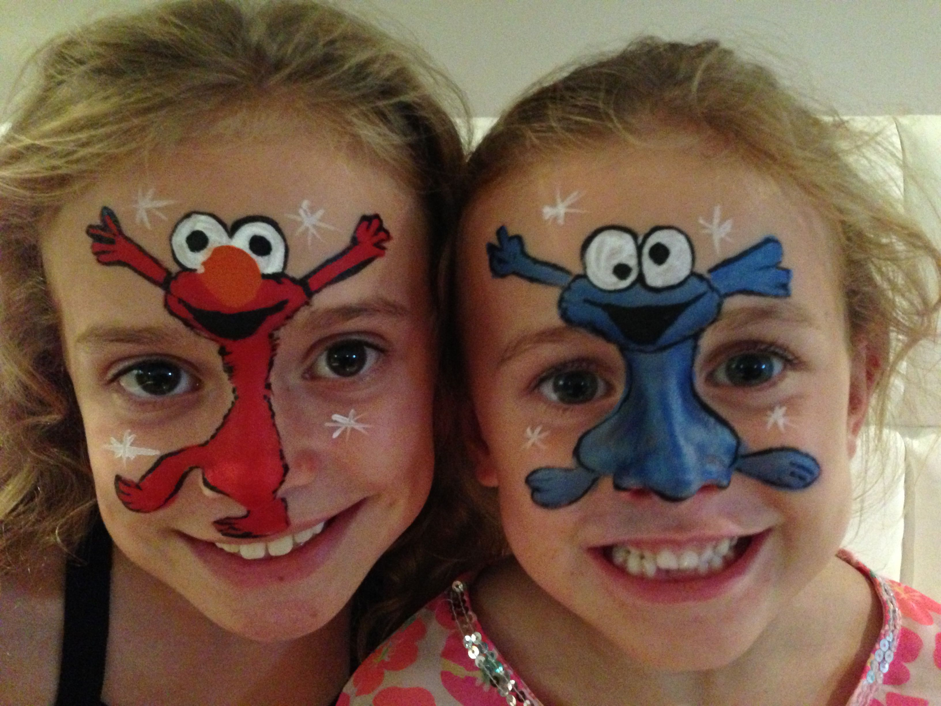 Schmink Ideen Elmo And Cookie Painted By Contain A Scene Face Painting
