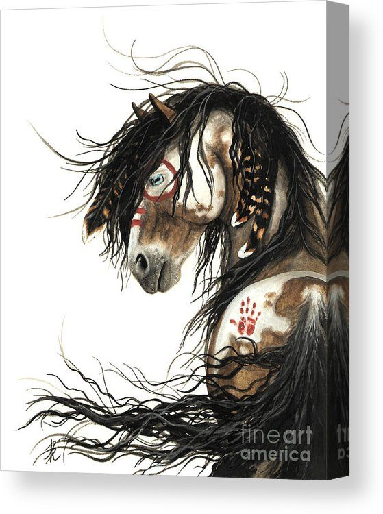 Majestic Mustang Horse Canvas Print Canvas Art By Amylyn Bihrle Horse Painting Native American Horses Mustang Horse