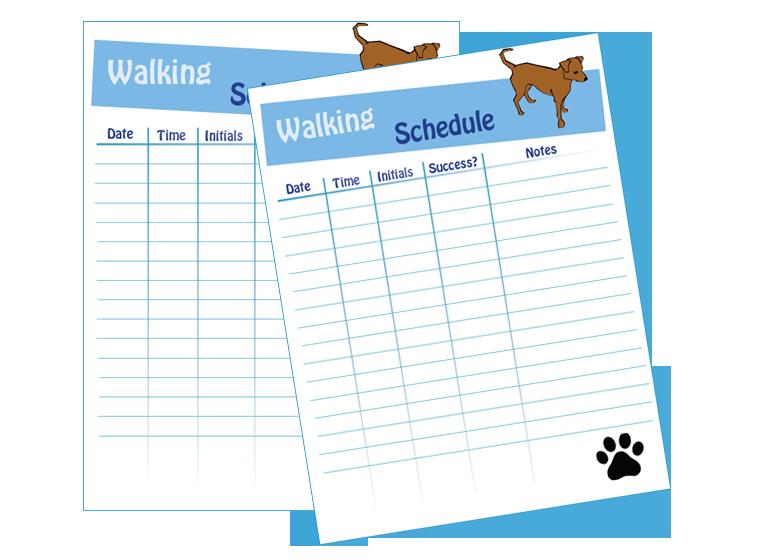 Dog Walking Schedule  Laminating Idea Center    Dog