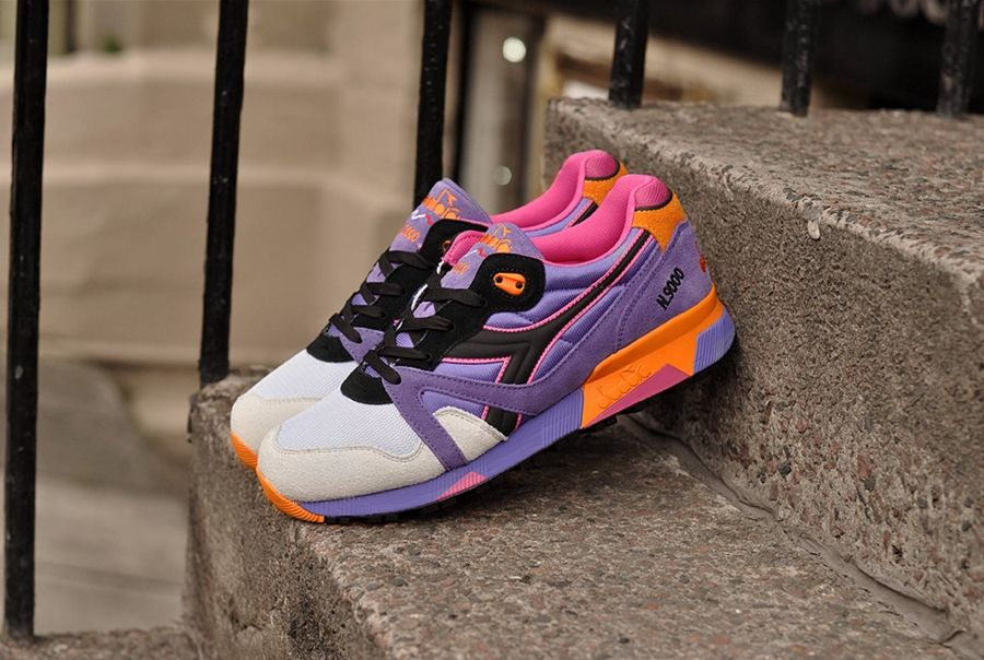 Mens Diadora N9000 NYL Violet Purple