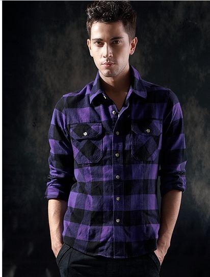 Purple Plaid Shirt. | Plaids | Pinterest | Purple plaid shirt ...