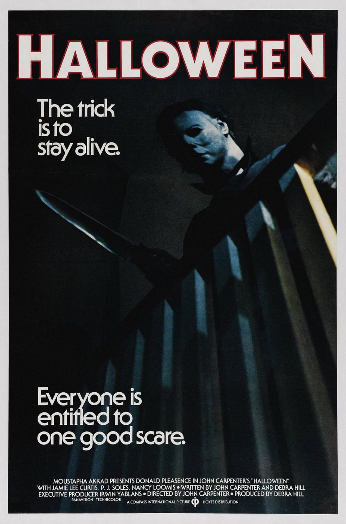 Movie poster Michael myers, Halloween 1978, John