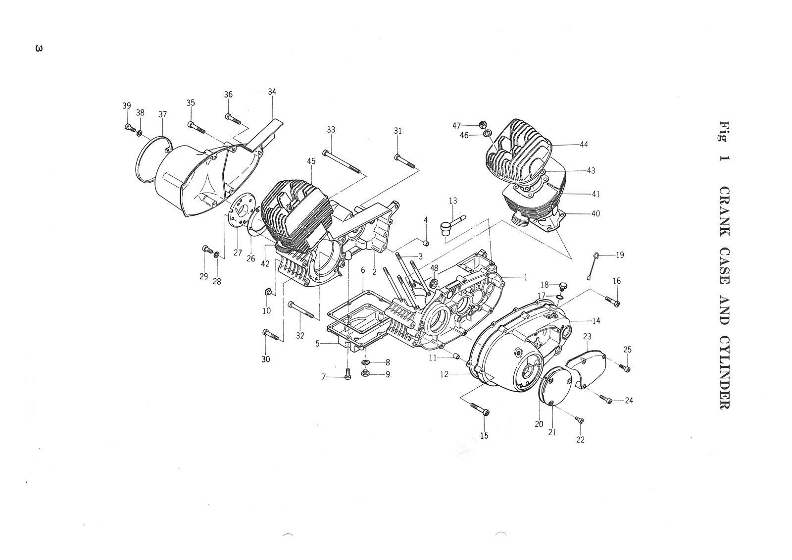 hight resolution of yamaha parts manual yds3 yds3c yds3 c 1964 1965 1966 spares catalog list ebay