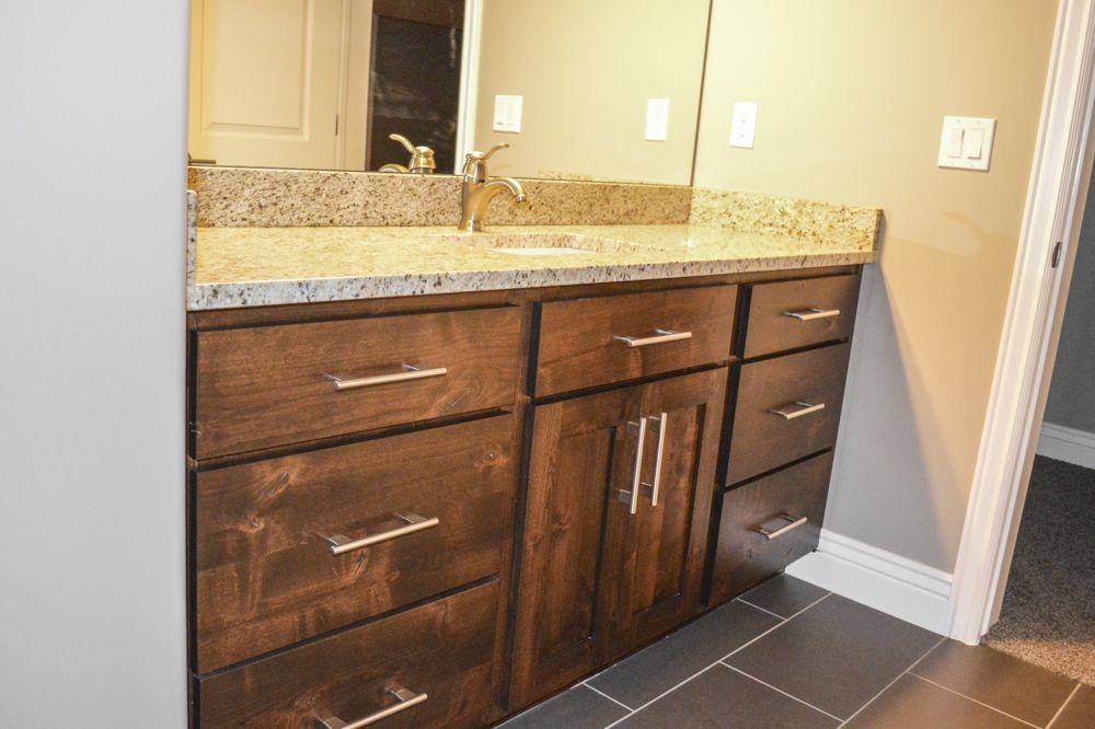Basement bath vanity