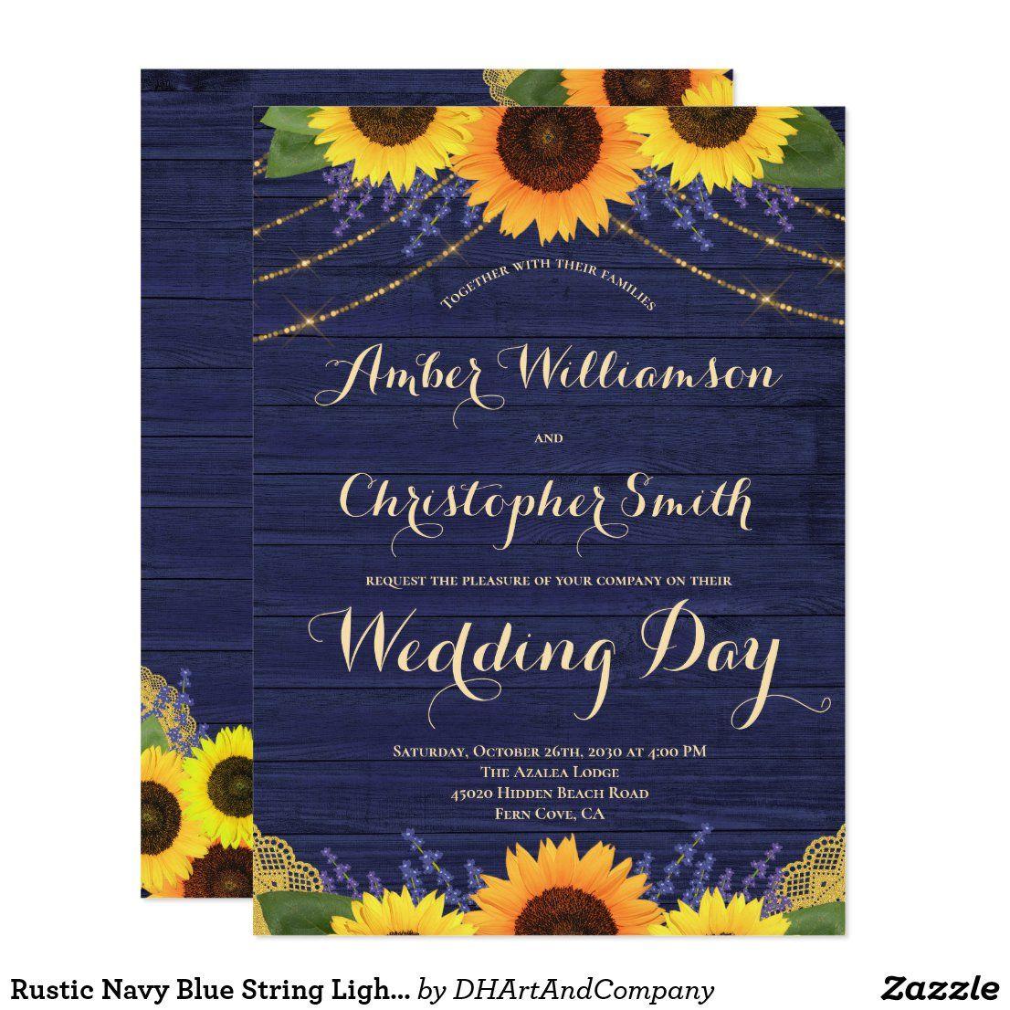 Pin di Sunflower Wedding Invitations