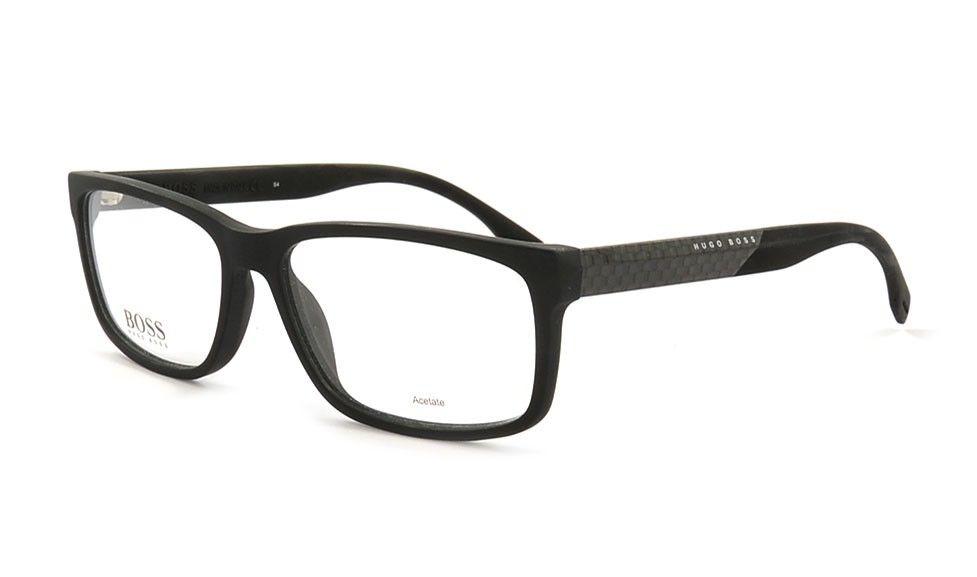 Shop für neueste Größe 7 elegante Form Herrenbrille von Hugo Boss 836 HXE 58 Schwarz Matt. Bei ...